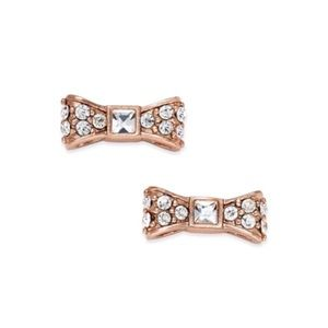 Kate spade dainty rose gold bow earrings